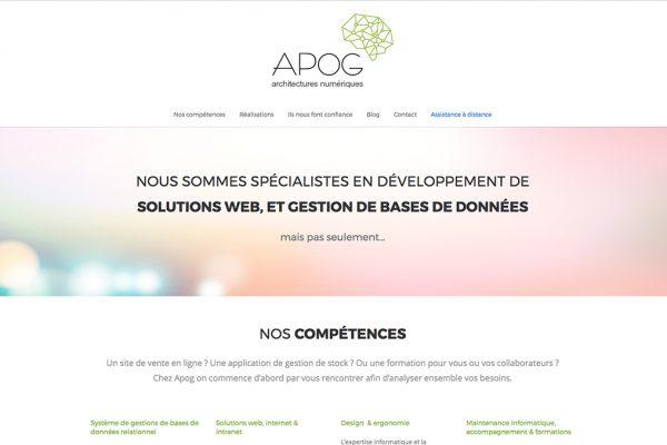 Le nouveau site internet Apog.fr