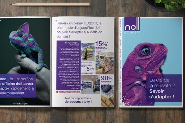Nouvelle brochure pharmacies pour Noll Concept